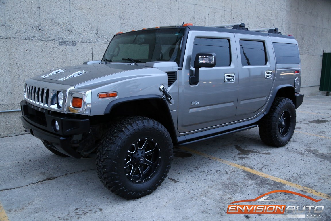 2008 H2 Hummer Suv Black Ops Fuel 18in Wheels Rear Dvd
