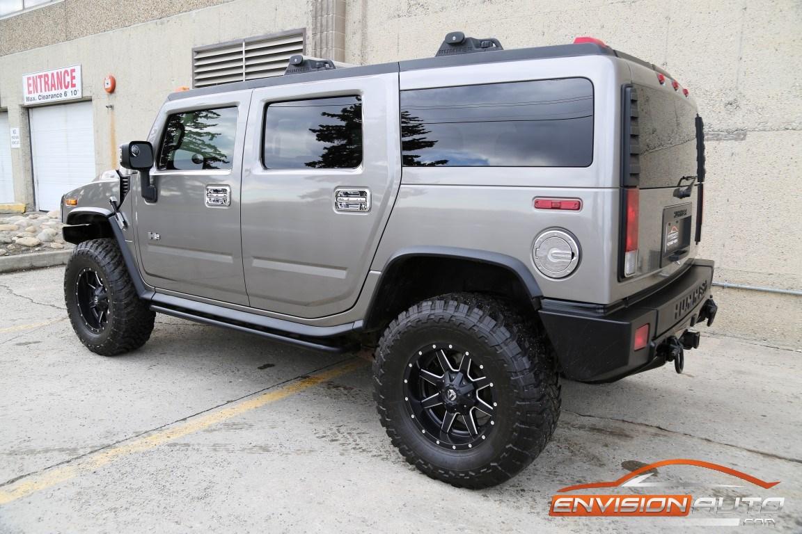 2008 H2 Hummer SUV Black Ops – Fuel 18in Wheels – Rear DVD