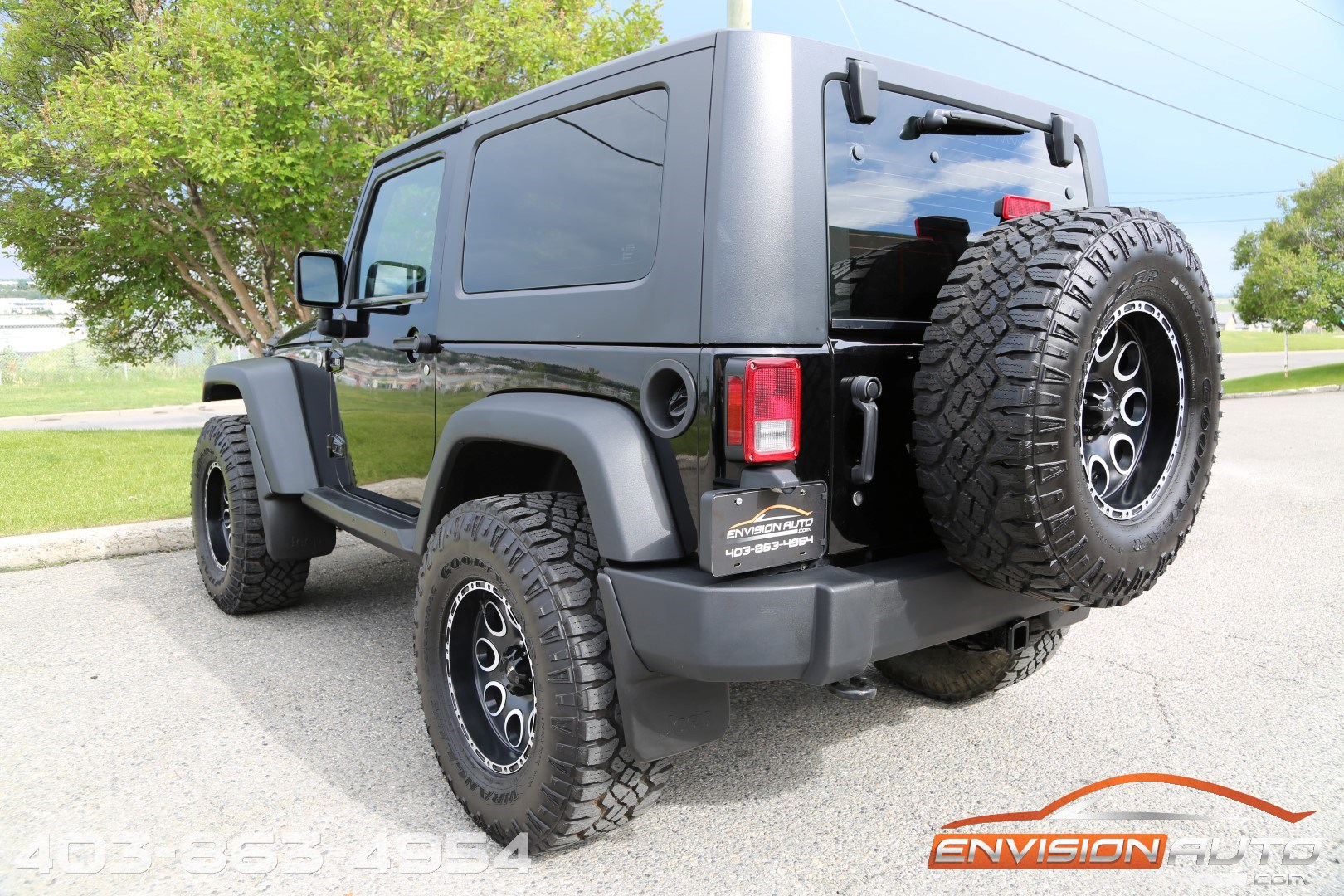 2010 jeep wrangler custom lift winch bumper led lights envision auto. Black Bedroom Furniture Sets. Home Design Ideas