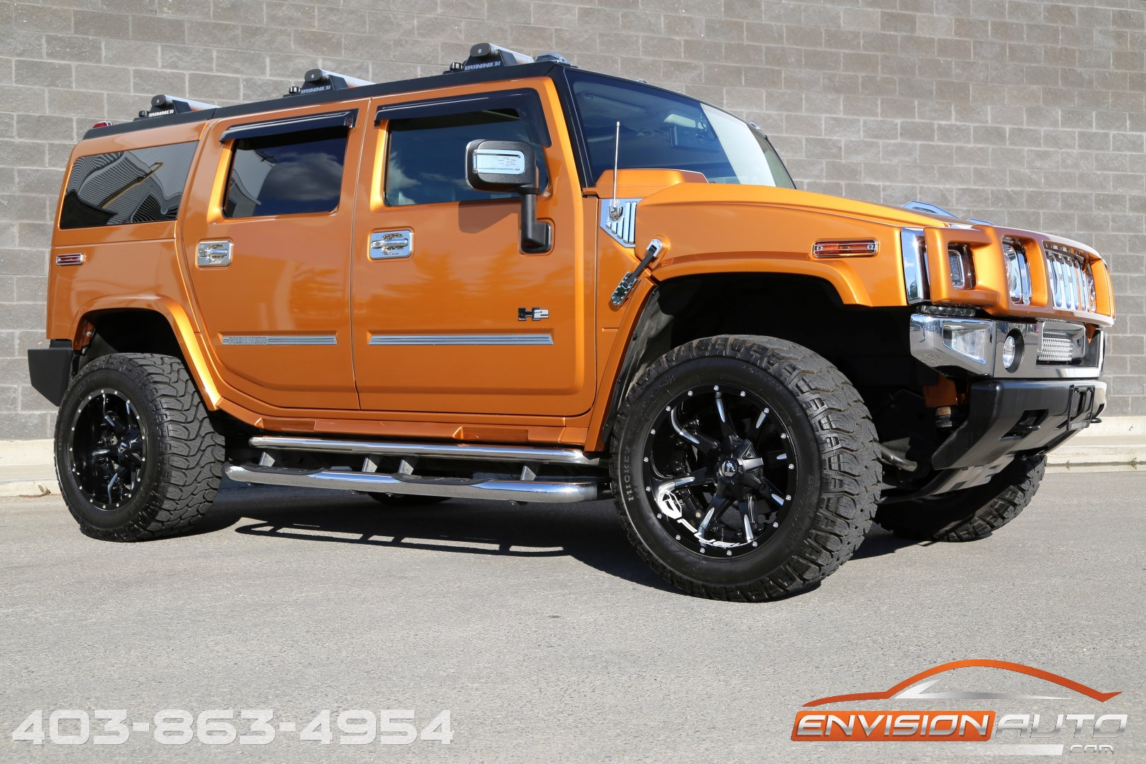 2006 H2 Hummer SUV Fusion Orange Custom Showtruck Fuel