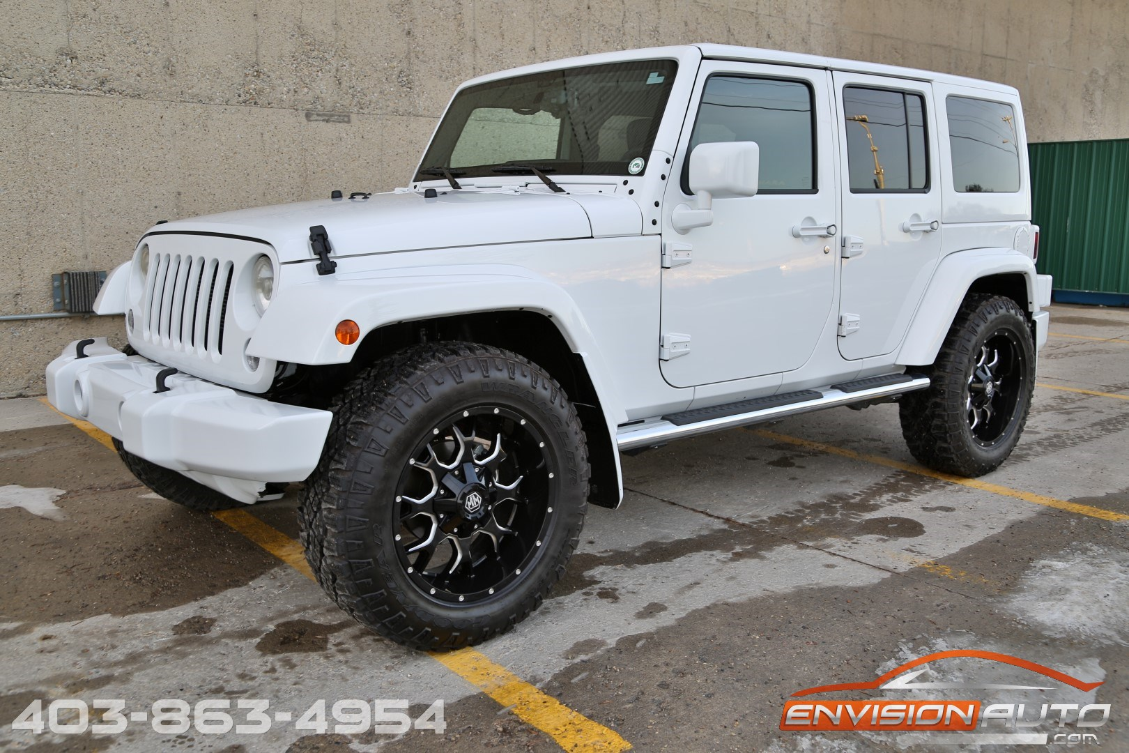 2015 jeep wrangler unlimited sahara 4 x 4 custom show jeep envision auto. Black Bedroom Furniture Sets. Home Design Ideas